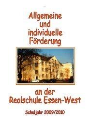 Förderung an der Realschule Essen-West