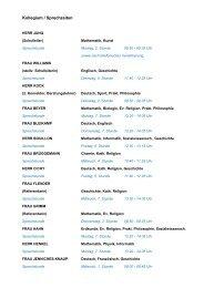 Lehrerliste / Sprechzeiten als PDF-Dokument