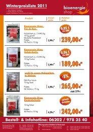 239,00€*€* 239,00 189,00€*€* 189,00 265,00 ... - Bioenergie Shop