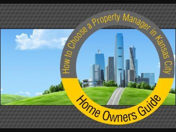 Find Professional Real Estate Property Managers in Kansas City