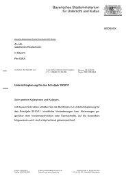 Bayerisches Staatsministerium für Unterricht und Kultus - Staatliche ...