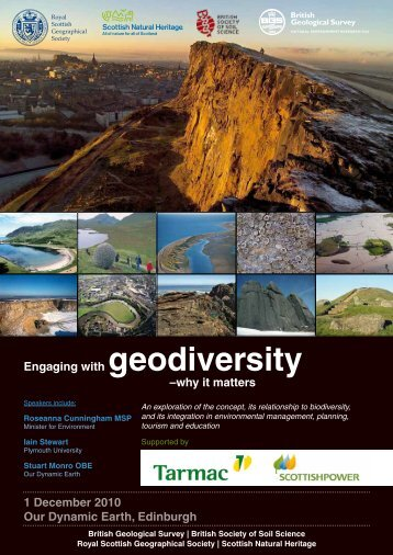 Engaging with Geodiversity - Royal Scottish Geographical Society