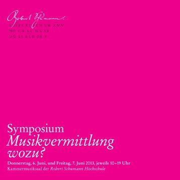 Flyer zum Download (pdf) - Robert Schumann Hochschule Düsseldorf