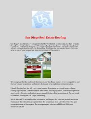San Diego Real Estate Roofing