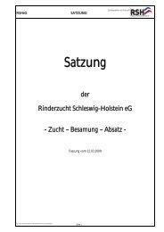 die Satzung als pdf-Dokument - Rinderzucht Schleswig-Holstein e.G.
