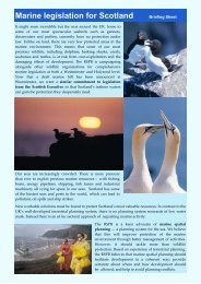 Marine legislation for Scotland Briefing Sheet - RSPB