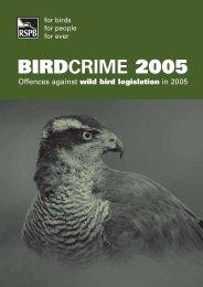 BIRDCRIME 2005 - RSPB