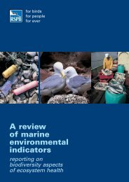 A review of marine environmental indicators reporting on ... - RSPB
