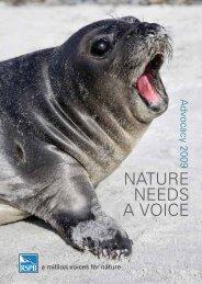 RSPB Advocacy 2009 - Nature needs a voice
