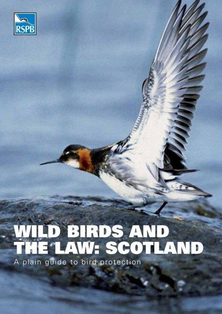 WILD BIRDS AND THE LAW: SCOTLAND - RSPB