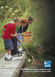 annual report and accounts 2010 - RSPB