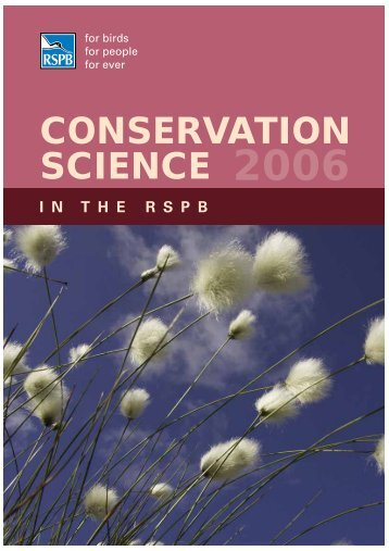 Conservation Science in the RSPB 2006