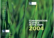 Conservation Science in the RSPB 2004
