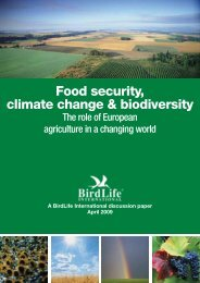 Food security, climate change & biodiversity - BirdLife International