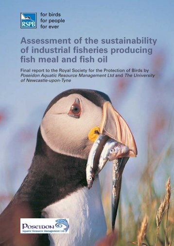 Assessment of the sustainability of industrial fisheries ... - RSPB