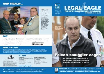 Legal Eagle 62 - RSPB