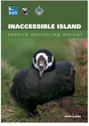 Inaccessible Island bird monitoring manual - RSPB