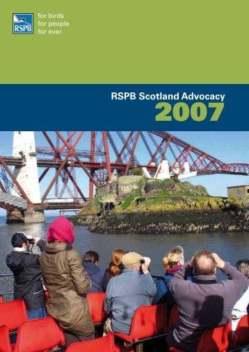 RSPB Scotland Advocacy 2007