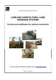 Lowland agricultural land drainage systems - function and ... - RSPB