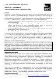 RSPB Scotland Parliamentary Briefing Marine Bill consultation