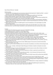 State of Nature References - Extended Historical context 1 ... - RSPB