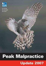 Peak Malpractice Update 2007 - RSPB