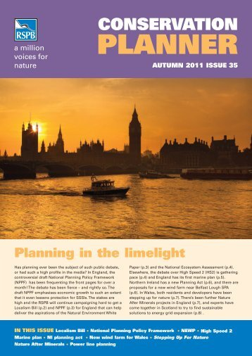 Conservation Planner Autumn 2011: Issue 35 - RSPB
