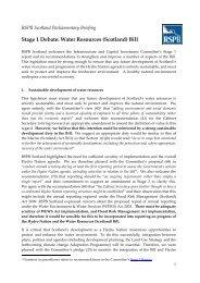 Stage 1 Debate: Water Resources (Scotland) Bill - RSPB