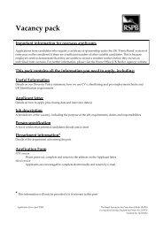 Vacancy pack - RSPB
