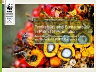 Profitability and Sustainability in Palm Oil Production: