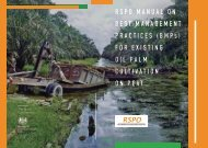RSPO Manual on BMPs for Existing - ASEAN Peatland Forests Project