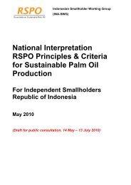 Indonesia National Interpretation RSPO P&C for Independent ...