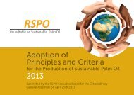 Adoption of Principles and Criteria 2013 - Roundtable on ...