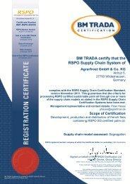 BM TRADA certify th RSPO Supply Chain Syst BM TRADA certify ...