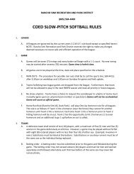 coed slow-pitch softball rules - Rancho Simi Recreation and Park ...