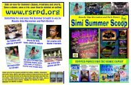 Simi Summer Scoop 2011 - Rancho Simi Recreation and Park District