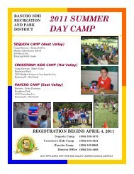 2011 SUMMER DAY CAMP - Rancho Simi Recreation and Park ...