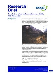 The effects of railway traffic on embankment stability - RSSB