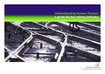 Understanding human factors: a guide for the railway industry - RSSB