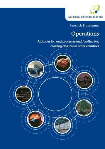 Operations - RSSB