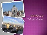 Presentation about Marocco