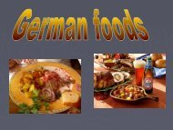 Food from Germany