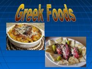 Food from Greece