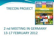 TRECON PROJECT 2 nd MEETING IN GERMANY 13-17 ...