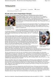 Zeitungbericht der Badischen Zeitung - RSV Hochschwarzwald