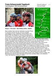 Bericht von der Trans Schwarzwald - RSV Hochschwarzwald