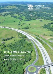2012–2013 Delivery Plan - RTA - NSW Government