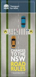 Changes to the NSW Road Rules 1 November 2012 - RTA