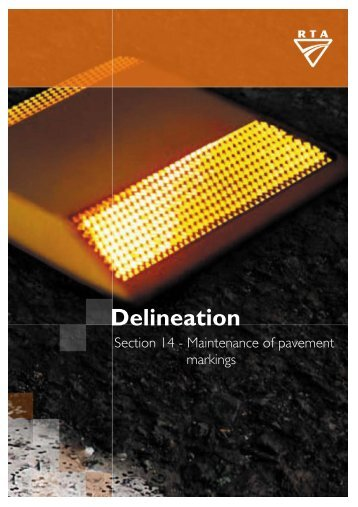 Delineation - Section 14 Maintenance of pavement markings - RTA