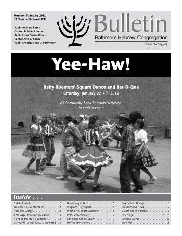 Yee-Haw! - Baltimore Hebrew Congregation